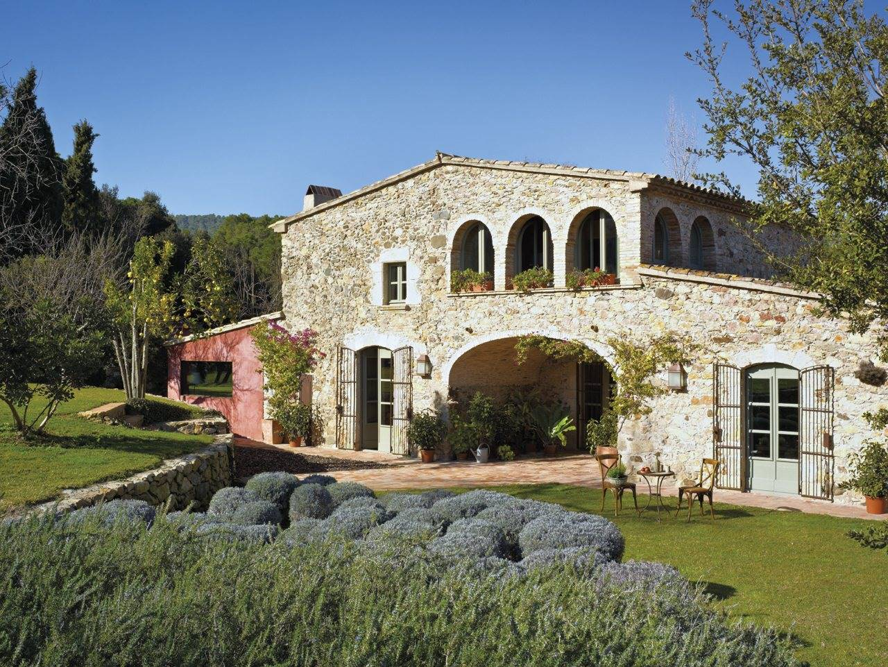 stone house facade. 50. An Empordà farmhouse made with love