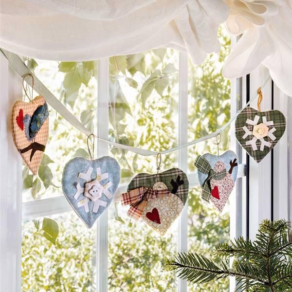 Tejer patrón 3 Árbol De Navidad Decoración Medias Star Pudding Adorno