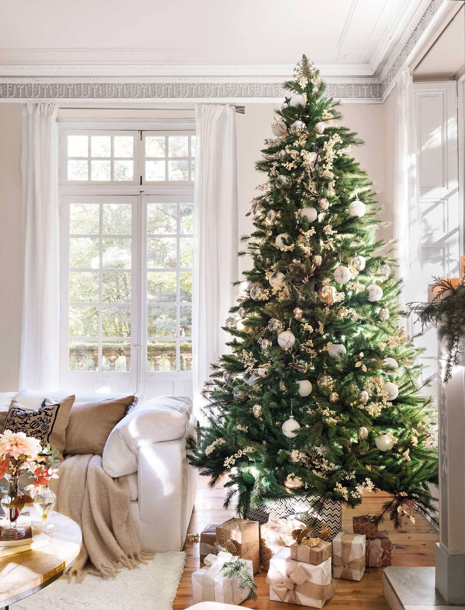 Azul Blanco Copos De Nieve-Pintado a Mano Hecha a Mano Mar de Cristal de árbol de Navidad Decoración