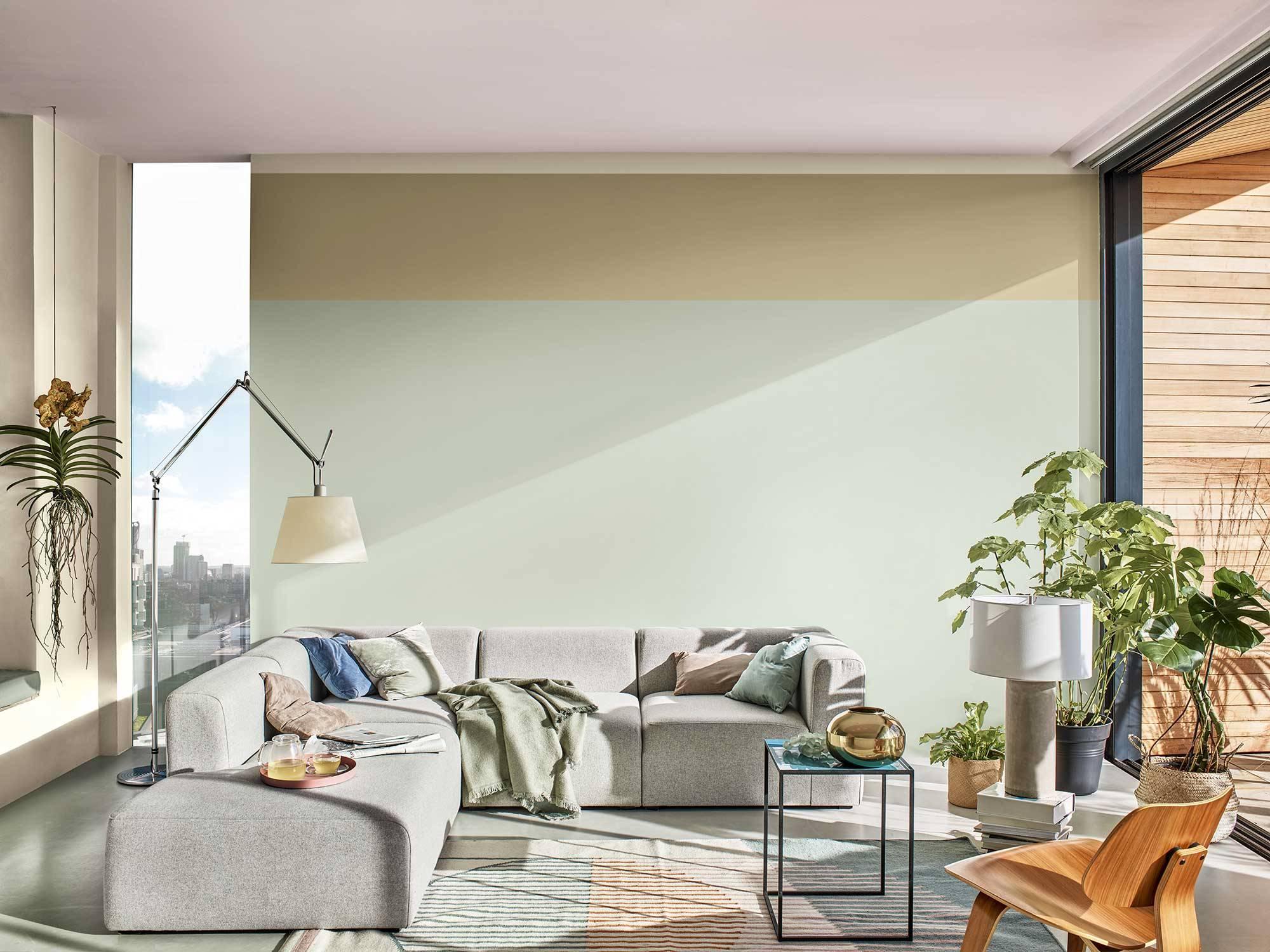 Color-del-Año -Amanecer-Tranquilo Salón. Amanecer tranquilo, Color del Año 2020 de Bruguer