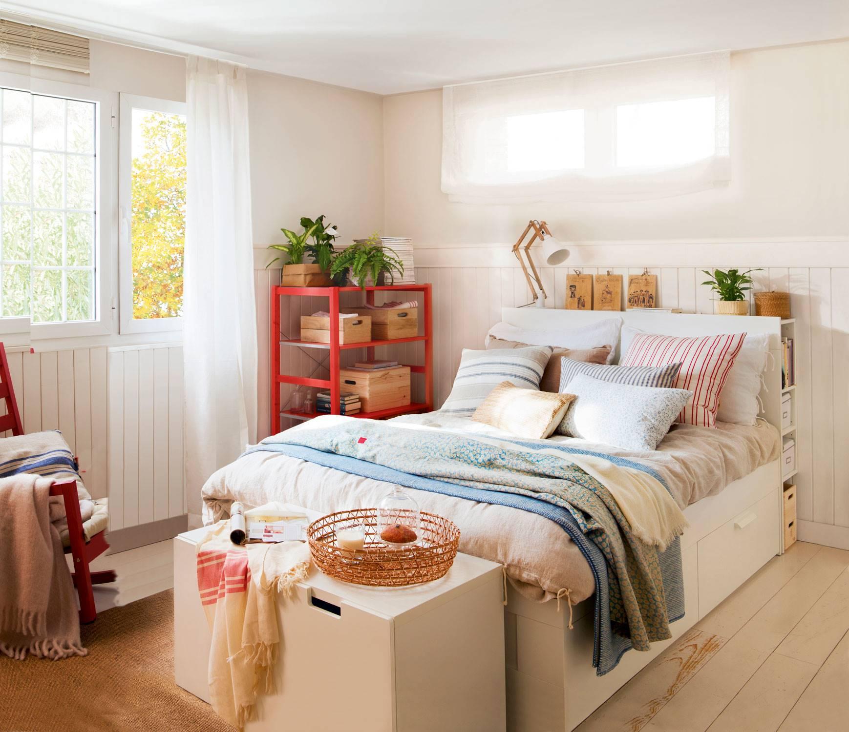 dormitorios matrimonio decorados con muebles blancos ikea