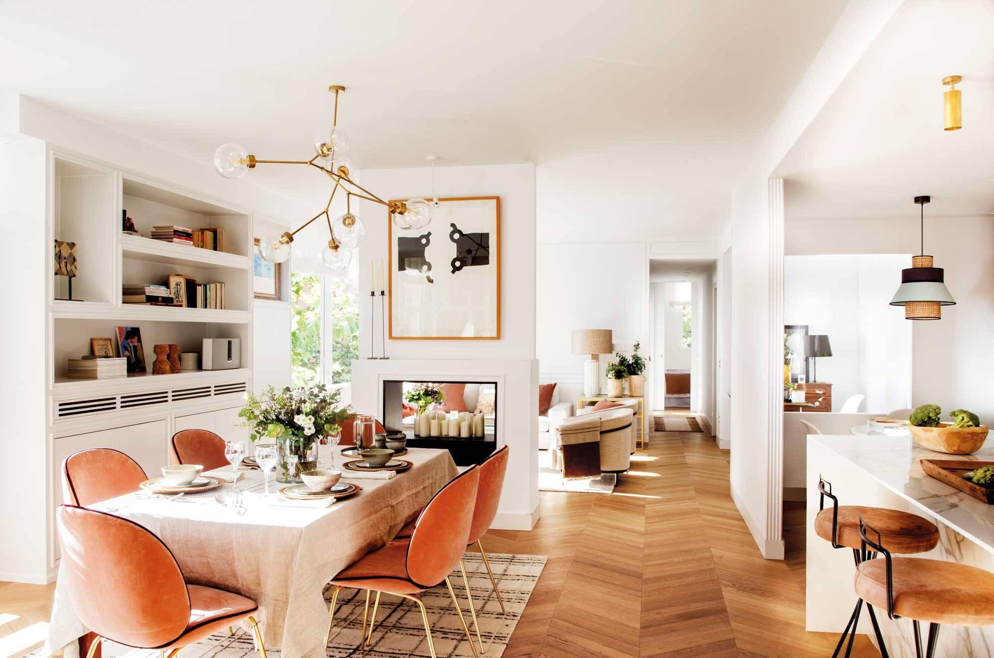 Las mejores ideas para separar el salón y el comedor
