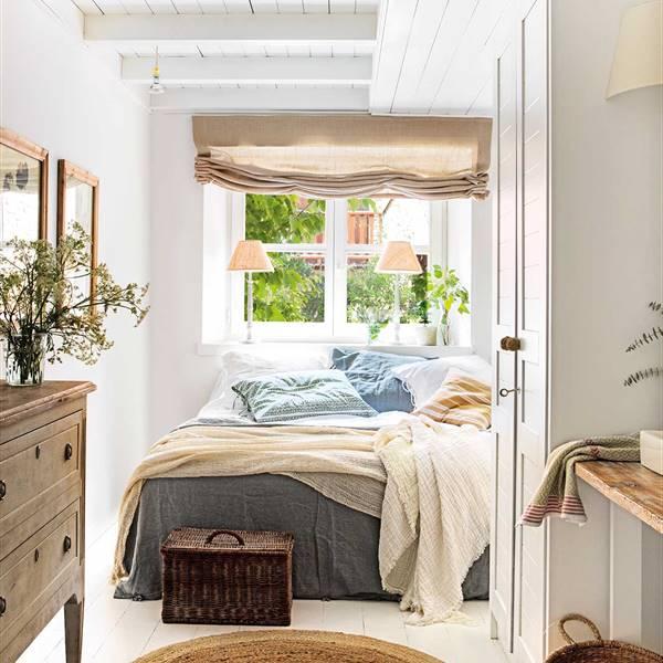 Dormitorios pequeños que no lo parecen