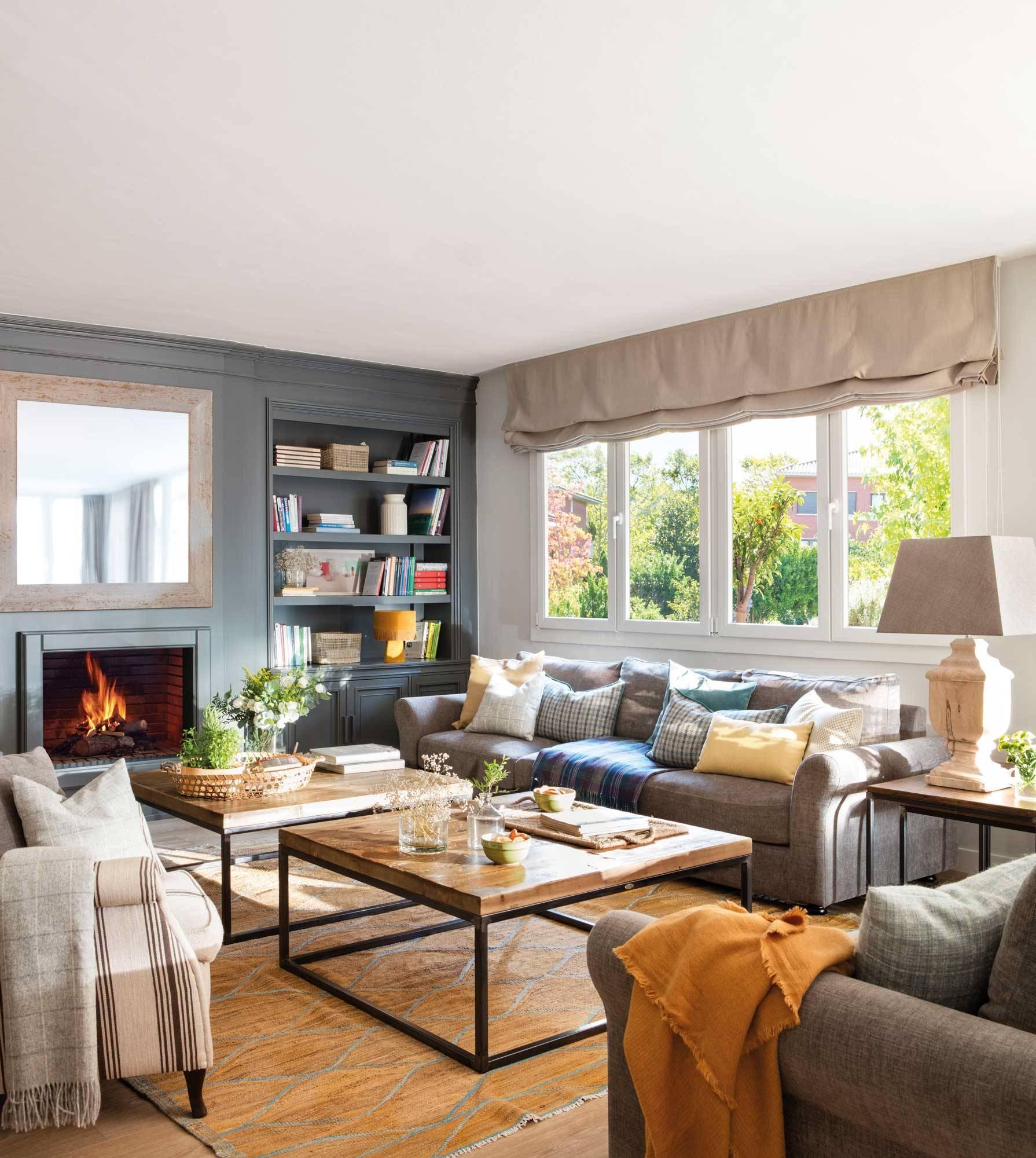 15 ideas para decorar con muebles oscuros