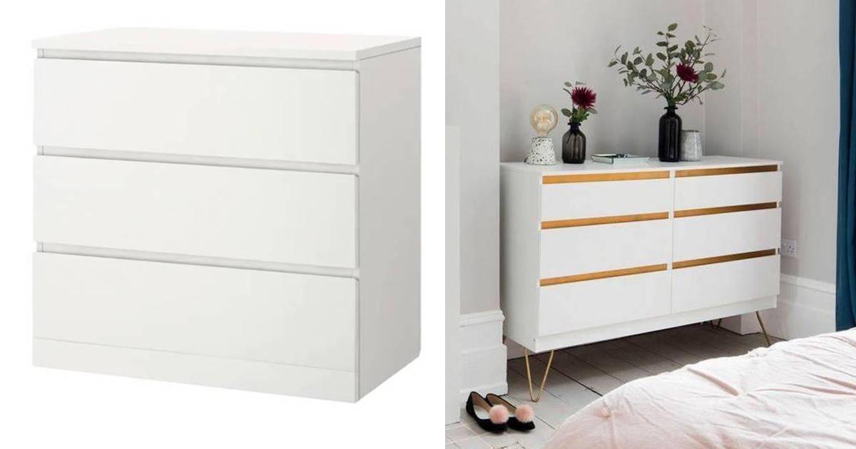 Antes y después: los mejores hacks de la cómoda Malm de Ikea