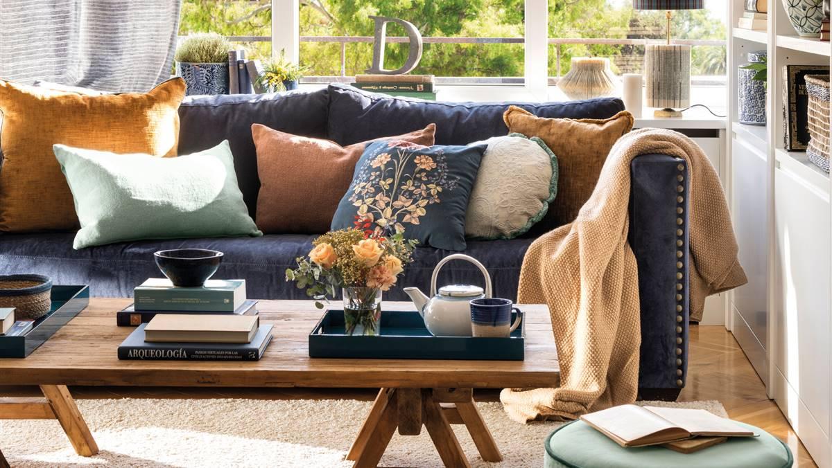 Cómo decorar con muebles y complementos azules