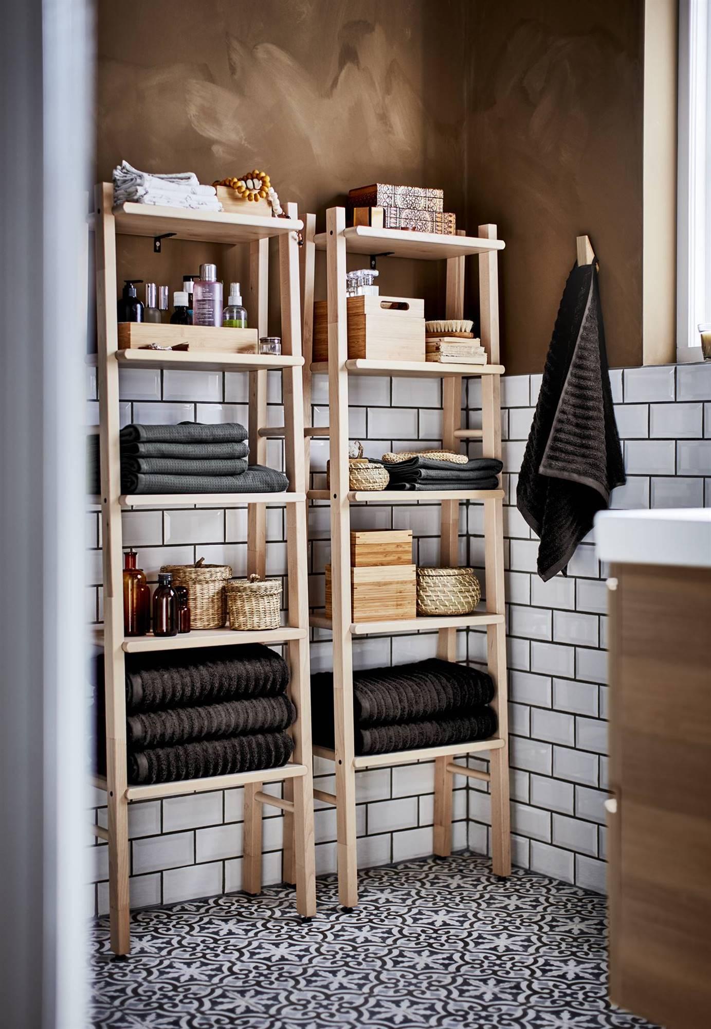 ikea estanterías y muebles para el baño