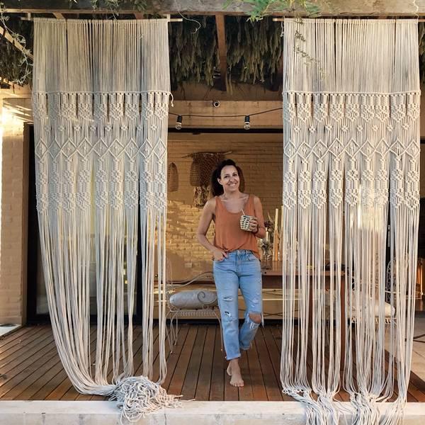 La impresionante casa de tapices de Verónica en Argentina