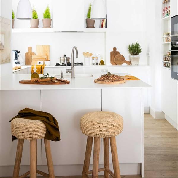 Cocinas sin muebles altos: claves para ordenarlas