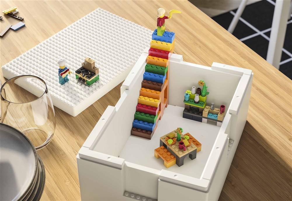 Ikea y Lego se unen y lanzan una colección de almacenaje del