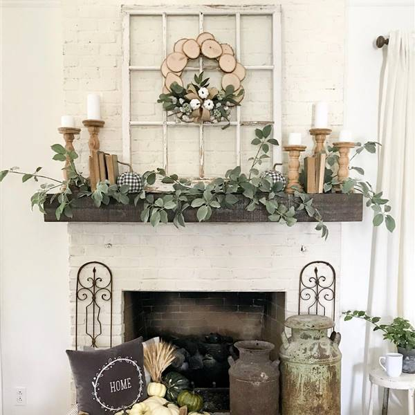 Estas ideas para decorar chimeneas vistas en Pinterest te van a chiflar