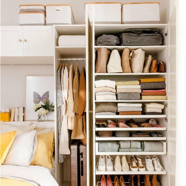 Cómo organizar un armario pequeño
